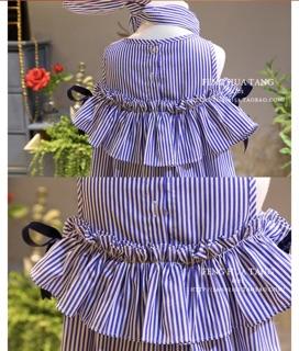 Váy bé gái dáng xoè kèm tuban