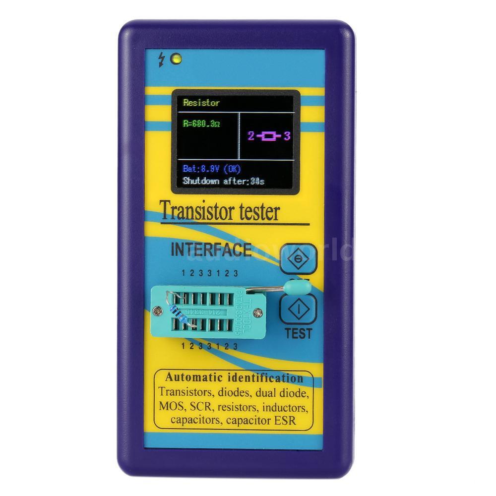 A&D Multi-functional Transistor Tester 128*160 TFT Color Display Diode Thyristor Capacitance Resistor Inductance