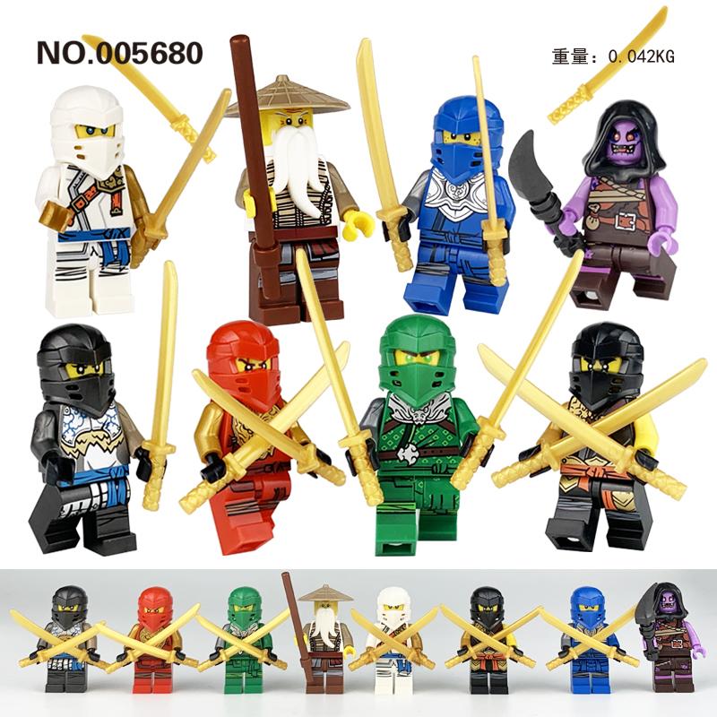 8PCS Lego Ninja Minifigure Building Blocks Educational Toys Army Building Blocks