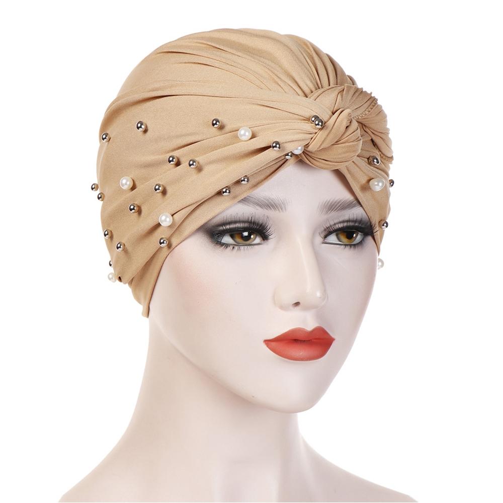 Mũ Turban Đính Hạt Phong Cách Ấn Độ Thời Trang Cho Nữ