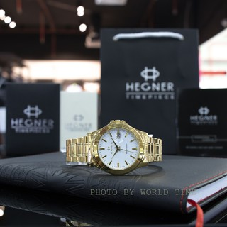 Đồng hồ nam dây thép Hegner HW-223MCWH , chính hãng full box , kính Sapphire chống xước , chống nước