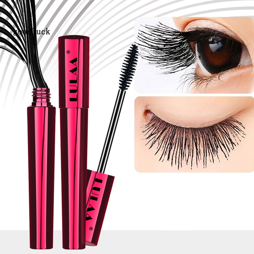 GLK_LULAA 4D Silk Fiber Makeup Mascara Waterproof Long Lasting Eyelash Extension
