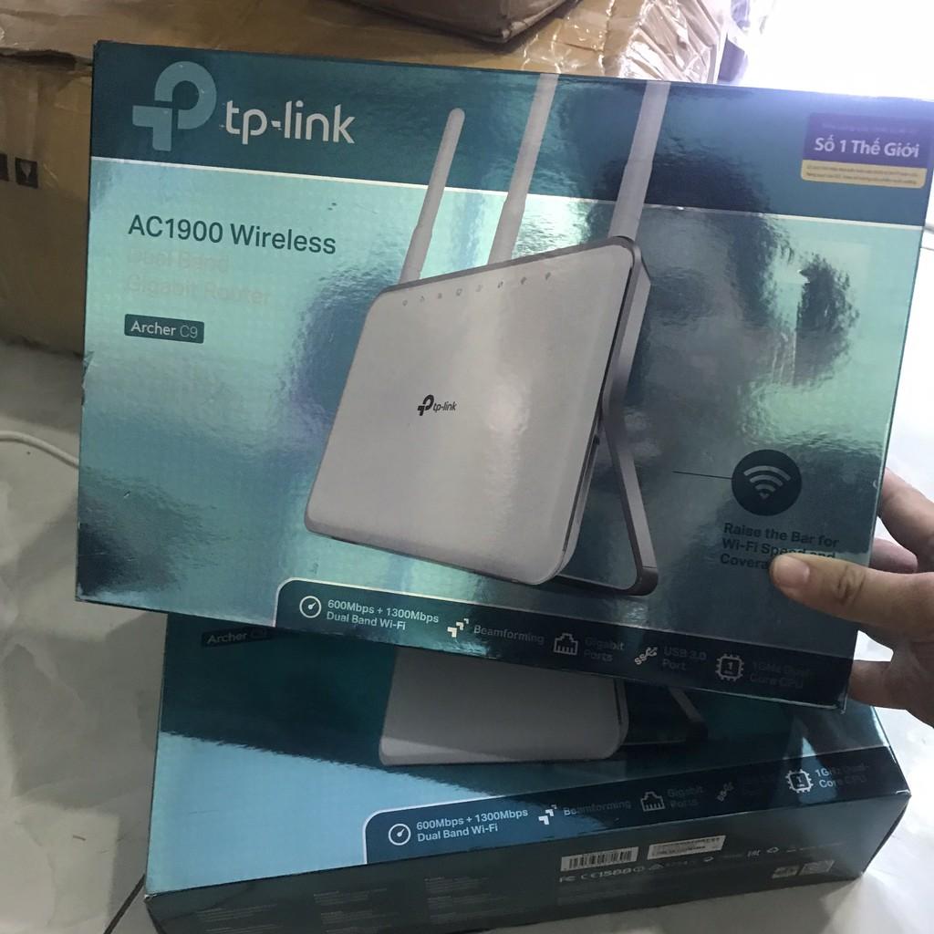 Router wifi băng tần kép AC1900 Tp-Link archer C9 new 100% bao hanh 1 năm Giá chỉ 2.000.000₫