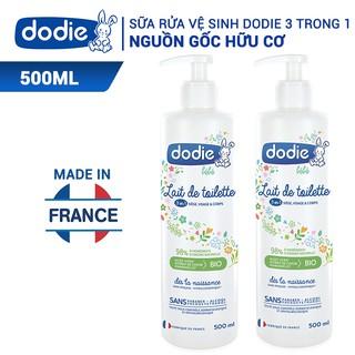 Sữa Rửa Vệ Sinh Dodie Cho Bé Từ 0m+ Nguyên Liệu Hữu Cơ 3 trong 1 - 500ml thumbnail