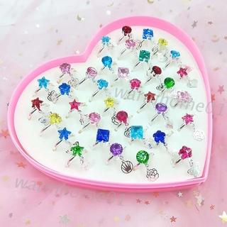 Bộ 12 36 nhẫn hợp kim nhiều kiểu dáng đáng yêu dành cho bé gái thumbnail