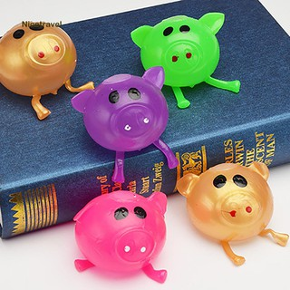 Solid Color Pig Anti Stress Splat Water Ball Jello Decompression Squeeze Toy