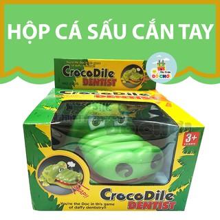 [Mã TOY0D giảm 15K đơn bất kỳ] Đồ chơi cá sấu cắn tay dành cho bé 1 tuổi trở lên- hitrandochoi