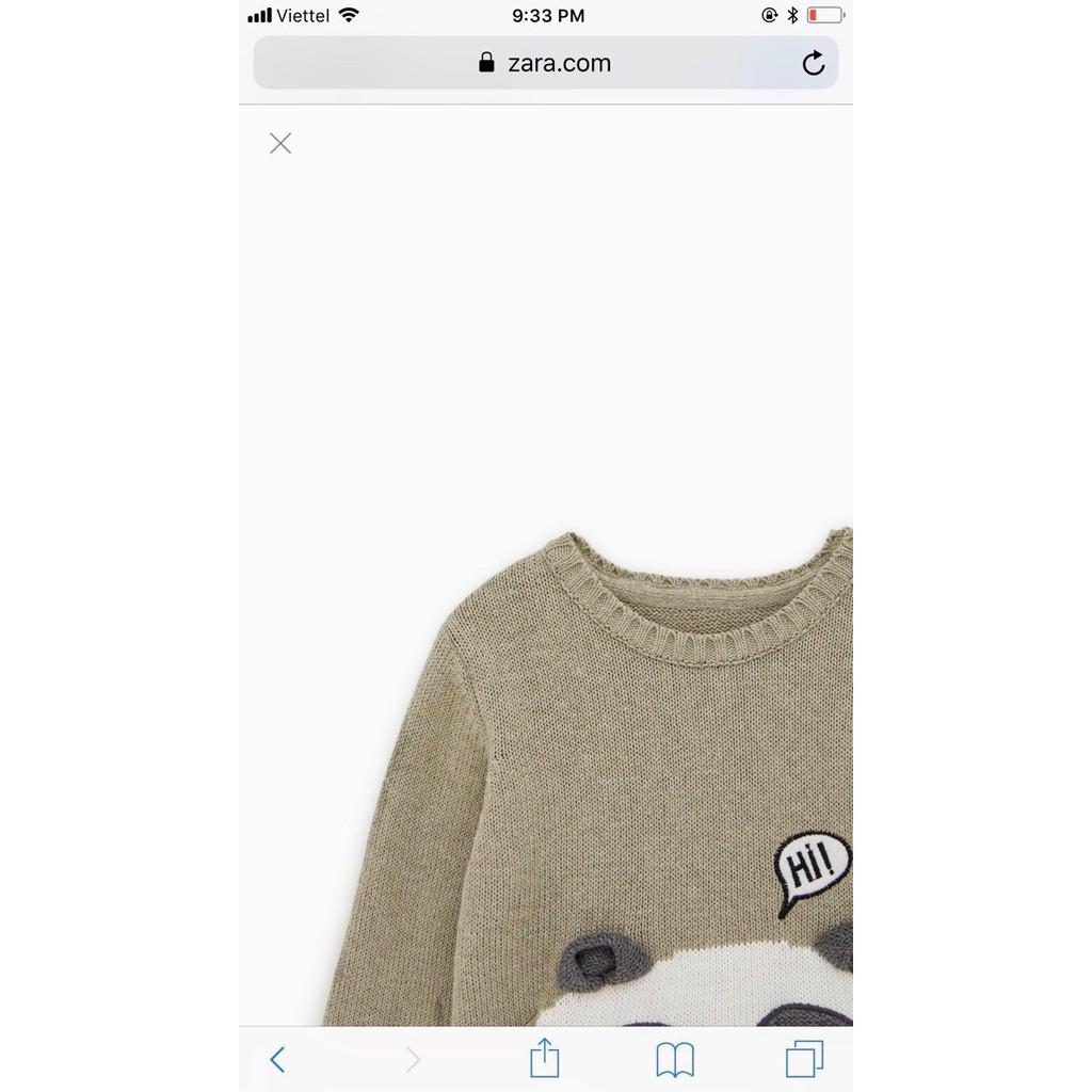 [1-4y] Áo len gấu zara bé trai/bé gái xuất dư xịn