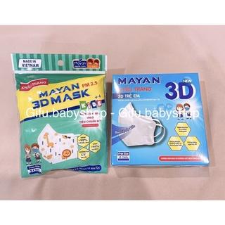 Khẩu trang trẻ em Mayan 3D PM 2.5, 4 lớp, chống khói bụi, vi khuẩn, ngăn t thumbnail