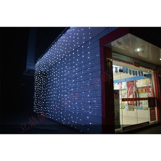 Hình ảnh Đèn LED Trang Trí Thả Mành Kiểu Rèm Mưa Nhiều Kích Thước 3m x 3m; 3m x 2,5m; 4m x 0,6m-4