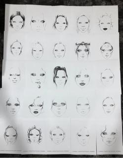 COMBO 10 tờ Facechart Makep. Học Makeup trên giấy.-1