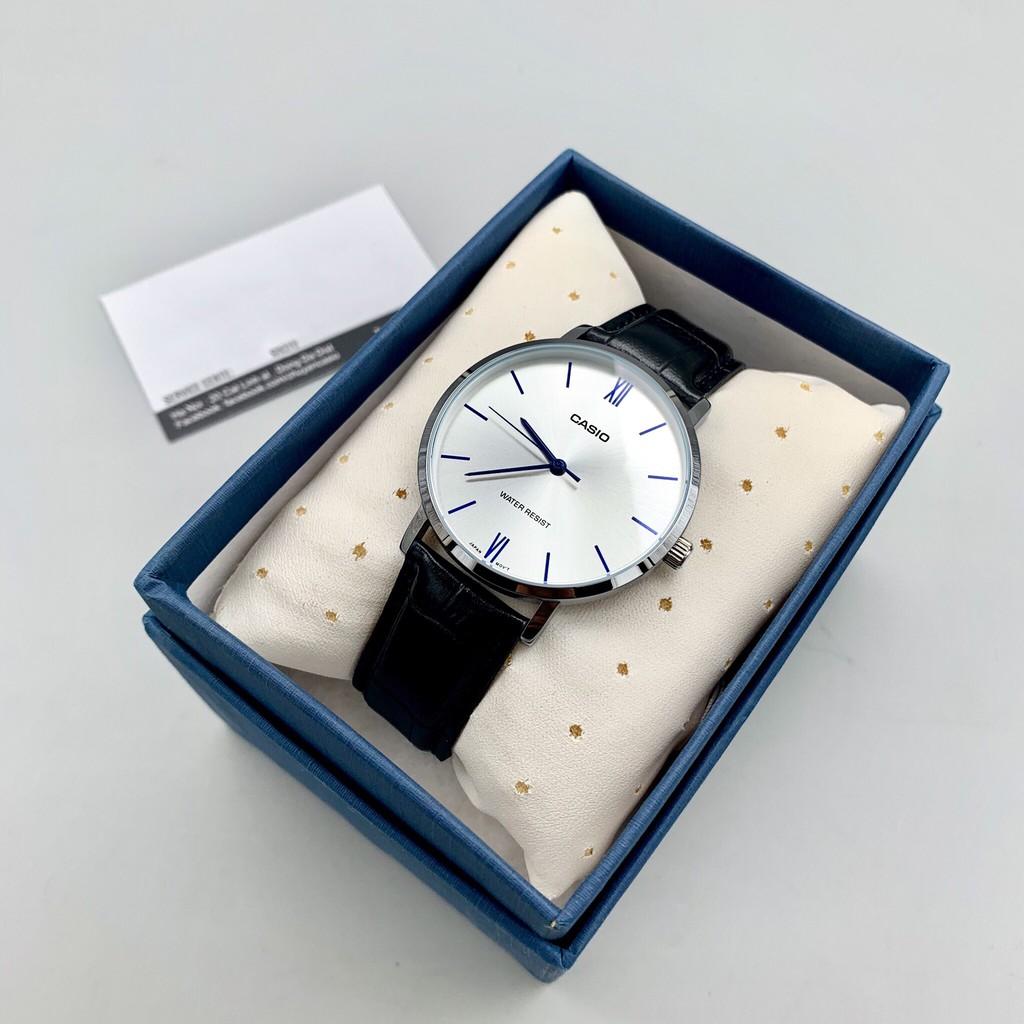 Đồng hồ nam dây da Casio Anh Khuê MTP-VT01L-7B1UDF