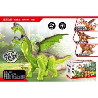 Đồ chơi khủng long 3 đầu cao cấp (kèm pin)