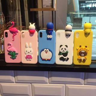 Casing iphone x 5 6 6s 6plus 6splus Rabbit Flamingo Panda Doraemon Case silicone