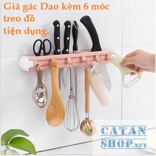FREESHIP50K Giá kệ để dao kéo dán tường Kèm 6 móc treo đồ phòng bếp không cần khoan tường. GD315-GacDaoLM thumbnail