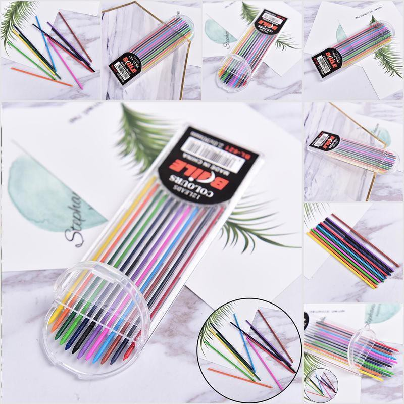 【COD•nobe】1Box 2.0mm Colored Mechanical Pencil Refill Lead Erasable Student St