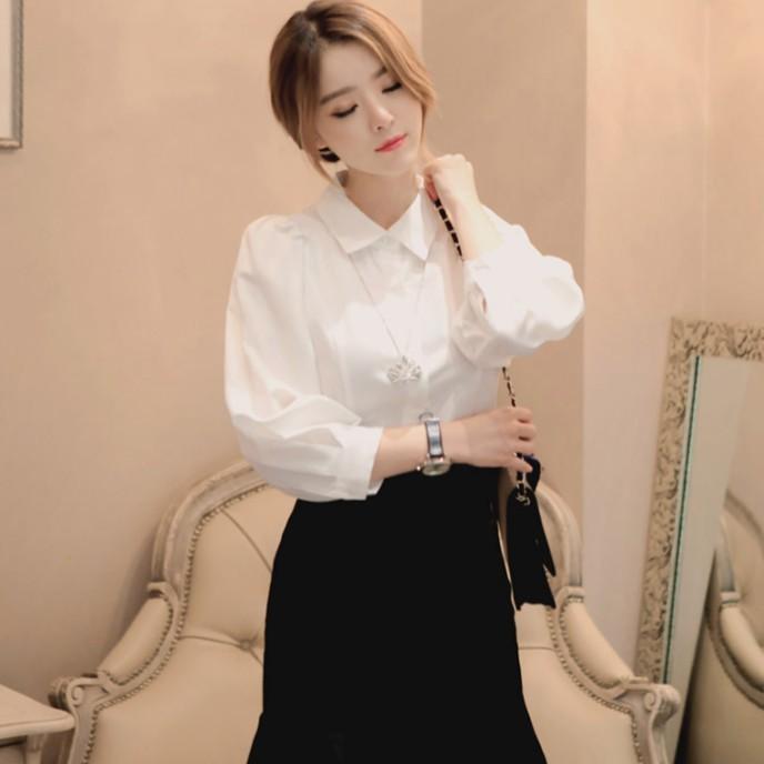 [SALE] Áo Sơ Mi Nữ tay bồng thời trang Xuu Design 💖 Áo Kiểu Nữ đẹp 💖 SMK12