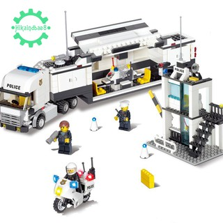 🌟Truck Motorcycle Building Toys Police station