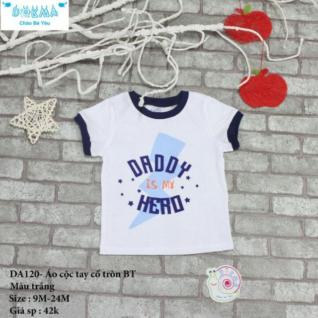 Áo bé trai Dokma 100% cotton