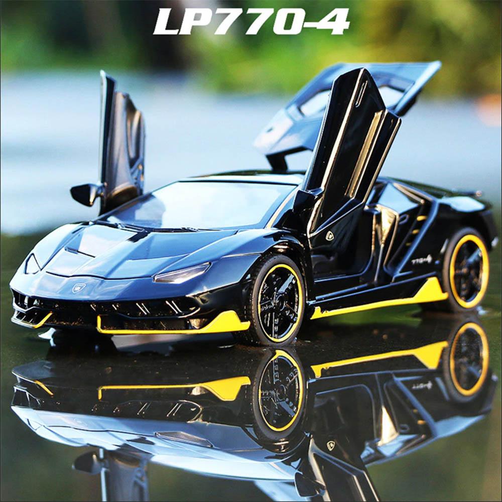 1:32 Lamborghini Centenario LP770-4 Diecast Sound&Light Alloy Car Model Toy Birthday New Year Gifts For Boys