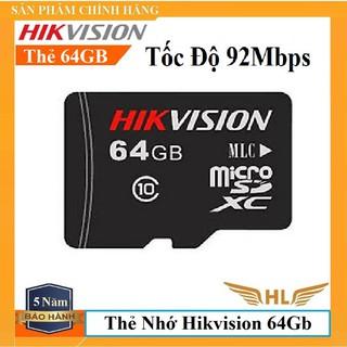 [Mã ELFLASH5 giảm 20K đơn 50K] Thẻ Nhớ Hikvision 64G , Hikvision 32G Class 10 - Hàng Chính Hãng