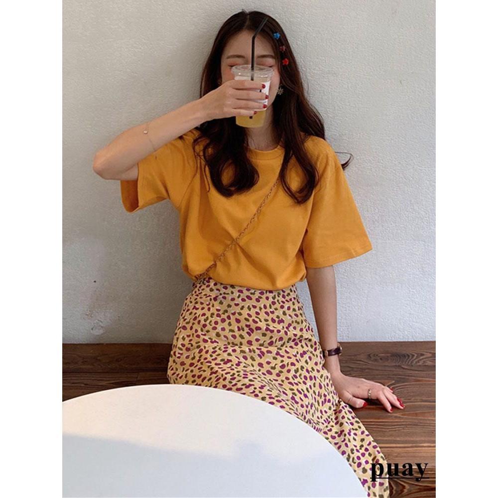 Bộ áo thun màu trơn và chân váy dài in họa tiết phong cách thời trang cho nữ - 14234996 , 2459370503 , 322_2459370503 , 295920 , Bo-ao-thun-mau-tron-va-chan-vay-dai-in-hoa-tiet-phong-cach-thoi-trang-cho-nu-322_2459370503 , shopee.vn , Bộ áo thun màu trơn và chân váy dài in họa tiết phong cách thời trang cho nữ