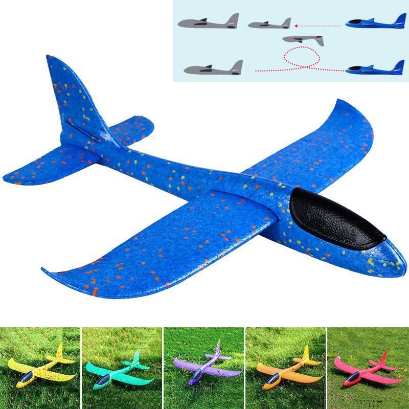 BF*48cm EPP Foam Hand Throw Airplane Outdoor Launch Glider Plane Kids Gift Toy