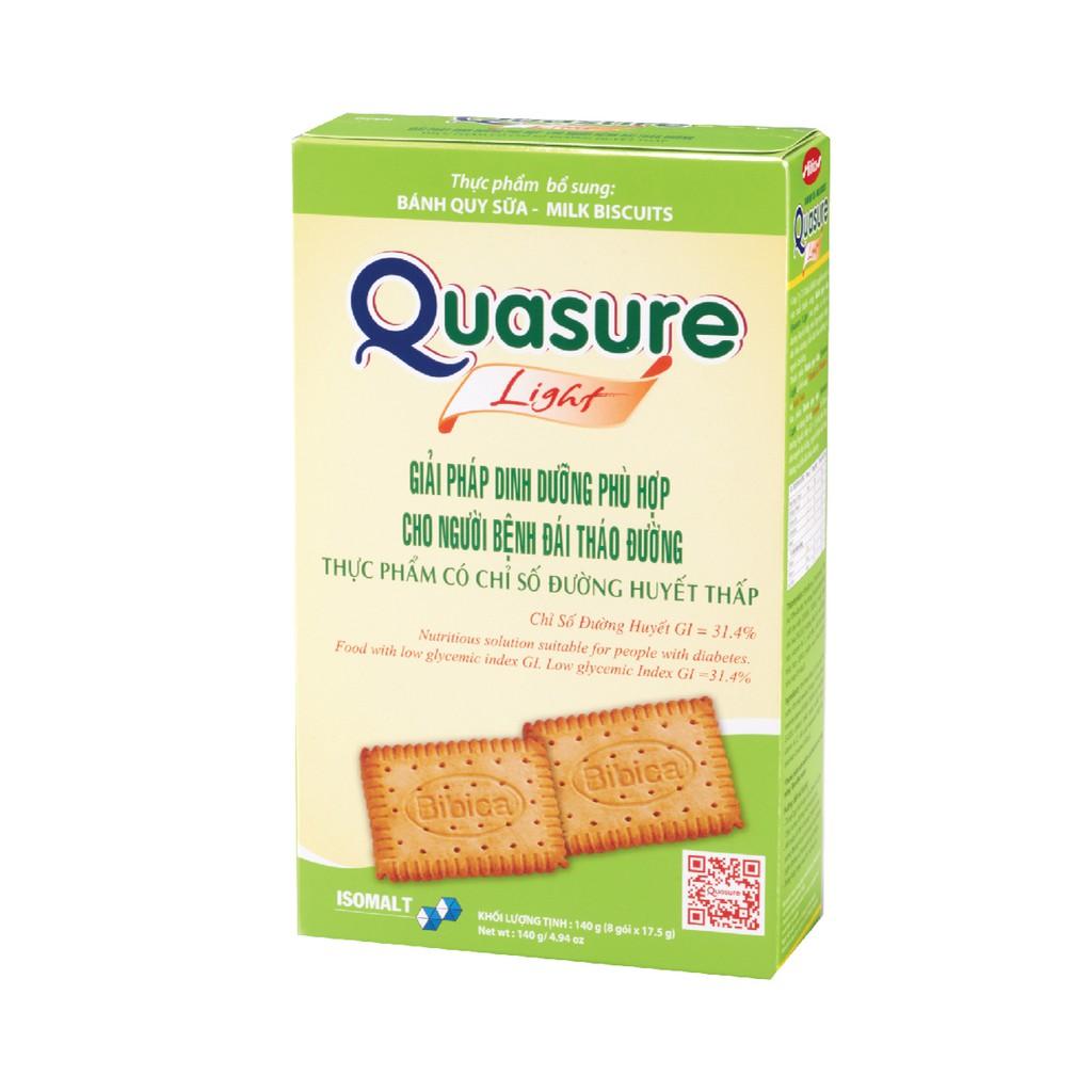 Bánh Quy Quasure Light Sữa hộp 140 gram Bibica - thực phẩm dành cho người ăn kiêng, tiểu đường