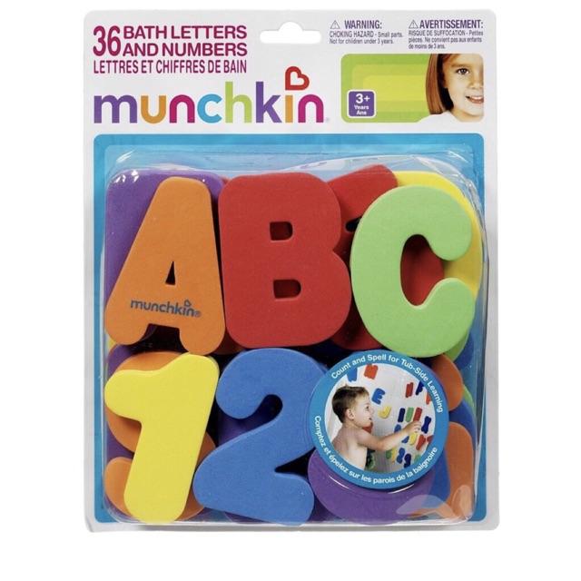 Bộ chữ cái và số chất liệu xốp Munchkin ( móp hộp do vẫn chuyển)