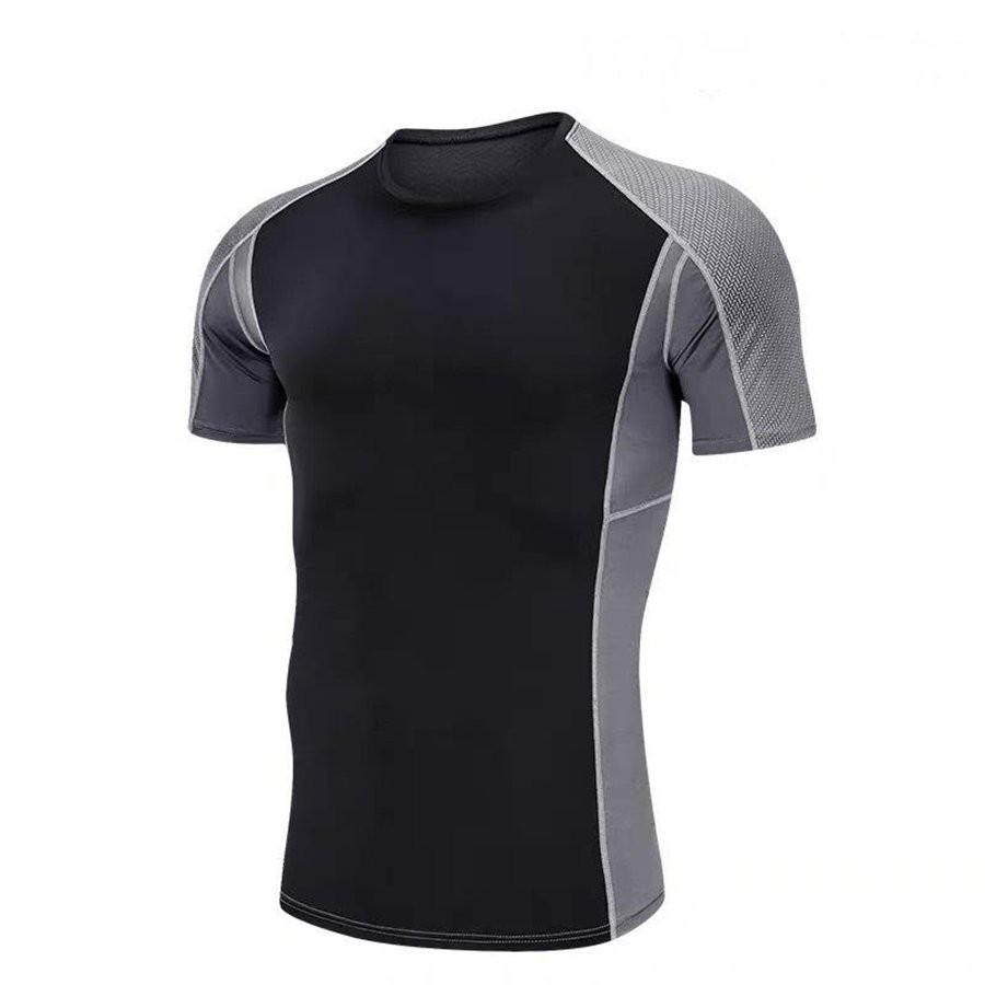Áo Thể Thao Nam Cộc Tay Màu Đen Xám Chuyên Tập Gym & Chạy Bộ - Hàng Siêu Cấp