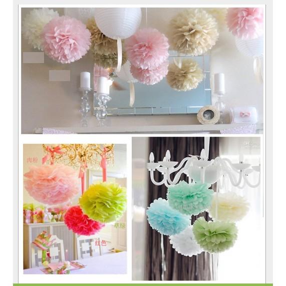 Hoa tròn đám cưới nhiều màu size 50cm