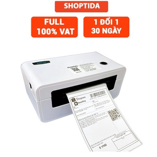 Máy in đơn hàng Shoptida SP46 kèm 1000 và khay đựng giấy in nhiệt 10 15cm, combo máy in nhiệt giấy và khay thumbnail