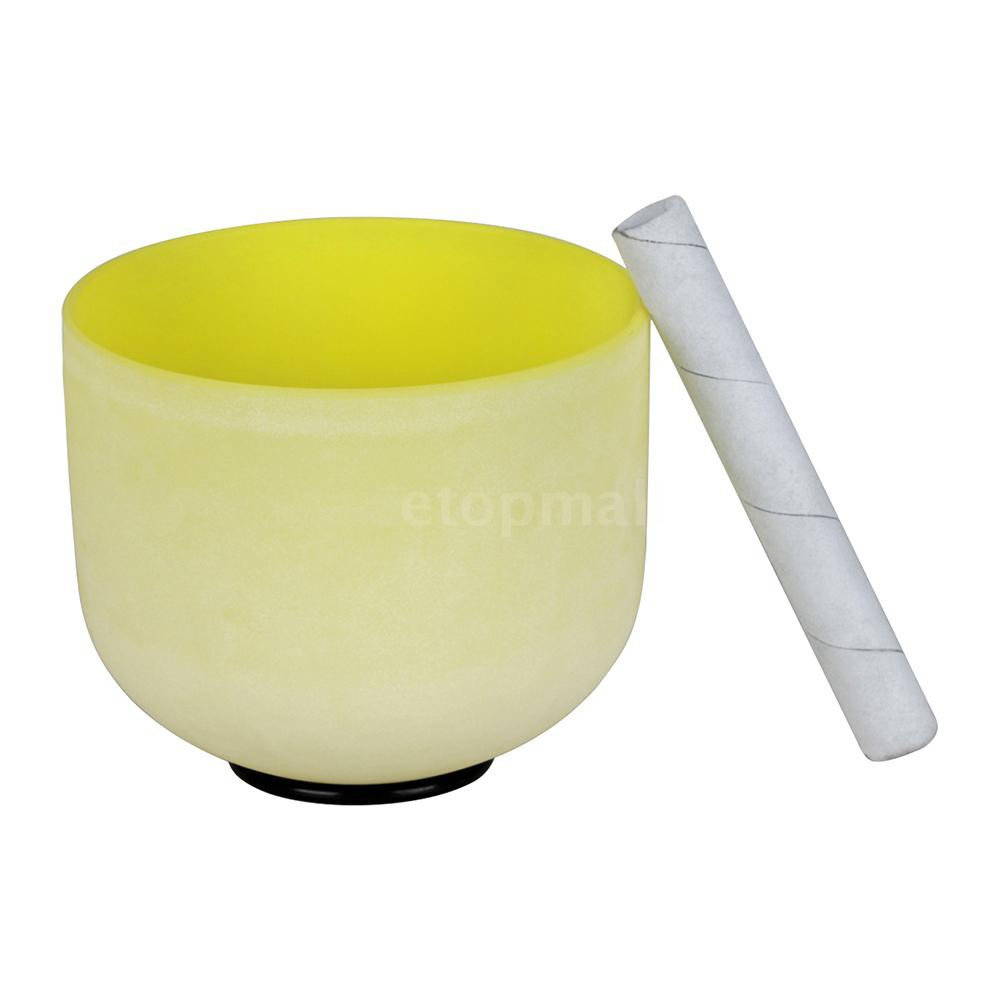 🔥🔥 8 Inch Crystal Singing Bowl B Note with Mallet & Rubber O-Ring for Music Ma