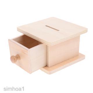 Wood Coin Box Game Montessori Preschool Training Toy Intelligent Development