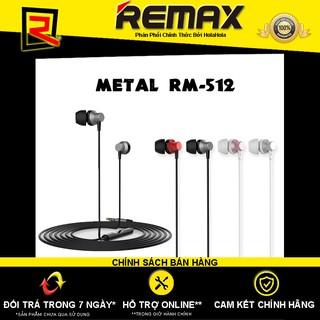 [Mã ELFLASH5 giảm 20K đơn 50K] Tai nghe nhét tai Remax Metal RM-512