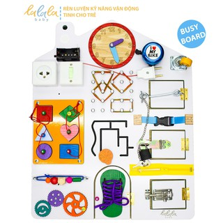 Bảng bận rộn - Busy board rèn luyện vận động tinh Lalala baby, kích thước 40x50x5cm
