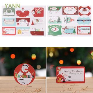 YANN 120pcs/lot Baking Decor Candy Box Gift Snowman Round Self-Adhesive Sealing Stickers