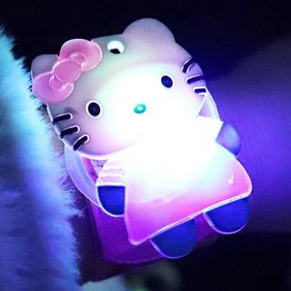 Cute Kids Flash Wrist Band Cartoon Slap Watch Glowing Luminous Bracelet Toy