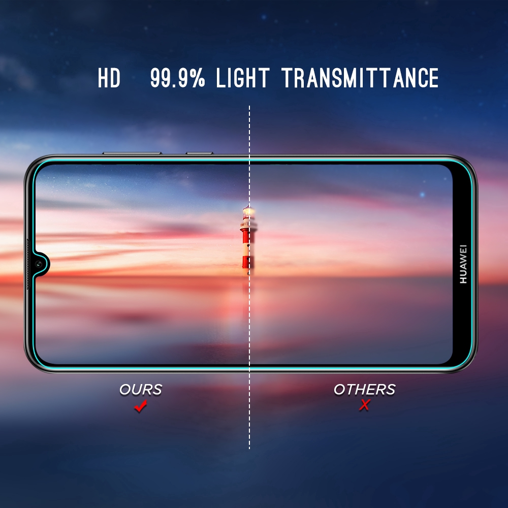 Kính cường lực bảo vệ màn hình cho Huawei P30 Honor 8X Y7 Y6 Pro Prime 2018  2019 Mate 20X