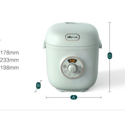 [Mã 267ELSALE hoàn 7% đơn 300K] Nồi cơm điện Bear DFB-B12R1, dùng để nấu cơm, hâm nóng, hầm thức ăn, dung tích 1.2 lít
