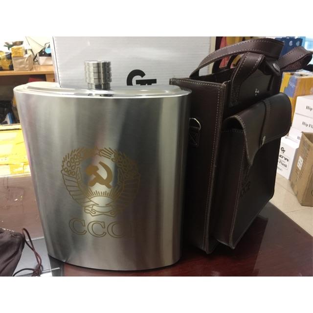 Bình rượu cao cấp CCCP logo vàng 3.5L