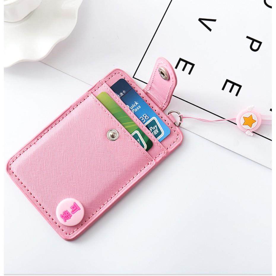 Dây đeo thẻ, túi đựng thẻ 3 ngăn siêu tiện lợi dành cho học sinh, sinh viên, nhân viên văn phòng