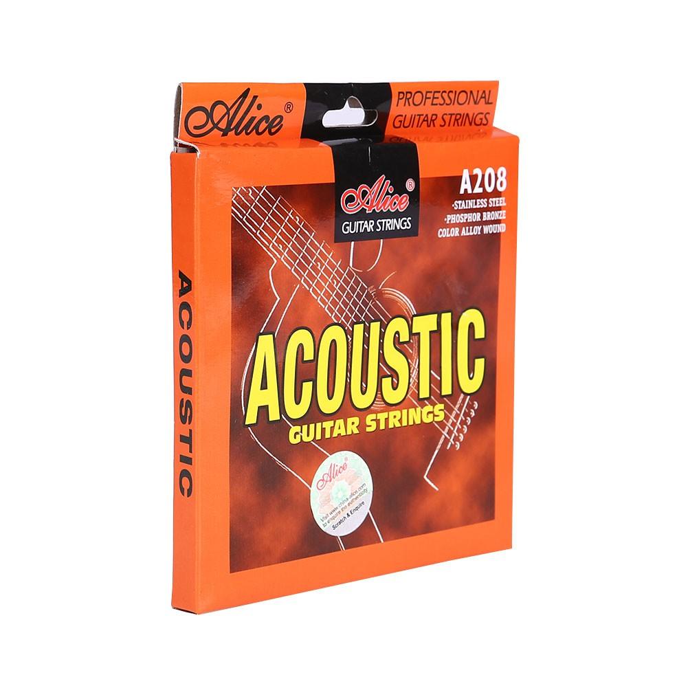 6pcs Acoustic Wooden Folk Guitar String Steel Core Rustproof Instrument Set