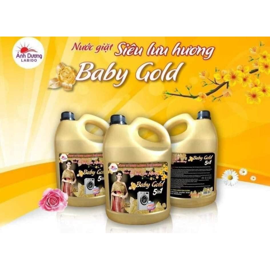 Nước giặt xả 5 in 1 Baby Gold 3.8L cao cấp số 1
