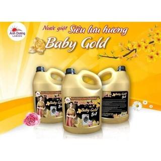 [Mã SPP070710KNWD giảm 10K đơn 0Đ] Nước giặt xả 5 in 1 Baby Gold 3.8L cao cấp số 1 thumbnail
