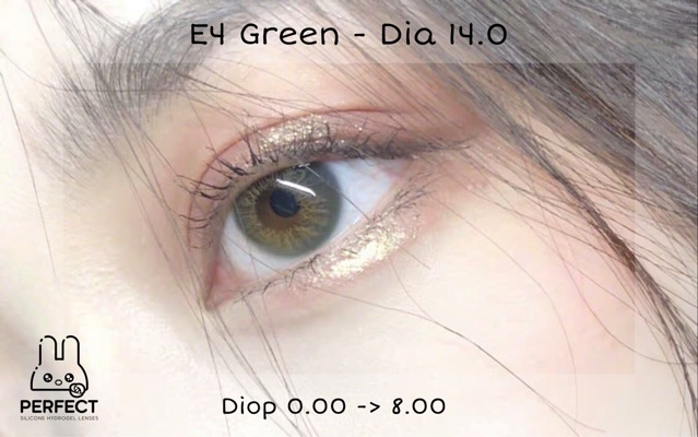 Link 2 (Giá 1 Chiếc) 14.0 (0.00->8.00) Lens E4 Green - Kính Áp Tròng