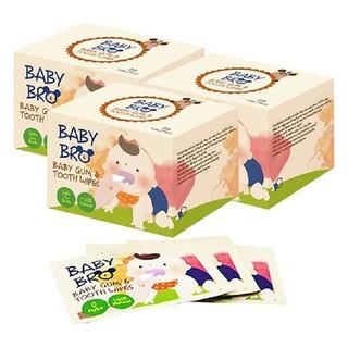 [Date 2022] Hộp 25 khăn lau răng miệng rơ lưỡi Hàn Quốc Baby Bro thumbnail