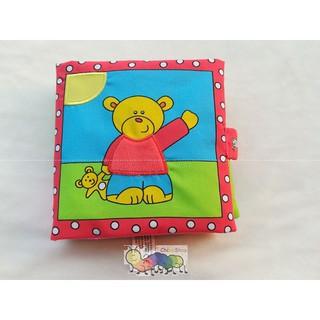 Sách vải dậy trẻ về các hoạt động hàng ngày – Bìa hình gấu con
