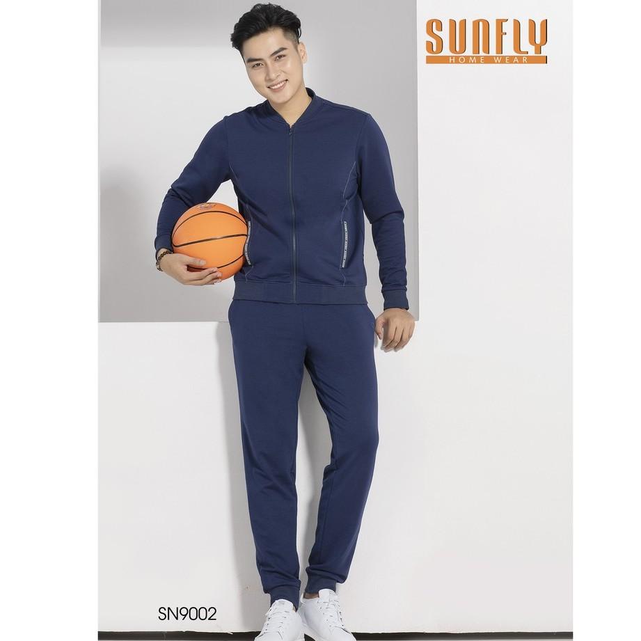 Bộ mặc nhà nam SUNFLY thu đông Áo dài tay, quần dài SN9002