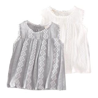 Áo cotton sát nách in hoa mùa hè cho bé gái